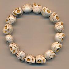 Cooles Armband Totenkopf Skull Armschmuck Nepal Buddha Marmor Bracelet 134c