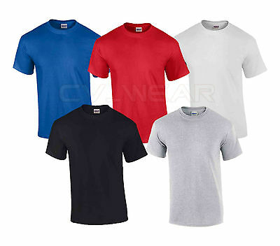 PACK OF 5 GILDAN T SHIRTS TOP TEE GIFT HOLIDAY TSHIRT SUMMER HEAVY COTTON WORK