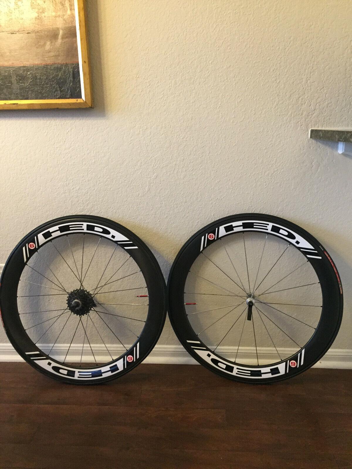 HED Stinger 6  Carbon Tubular Wheelset - New Tires _ New Sram RED Cassette  find your favorite here