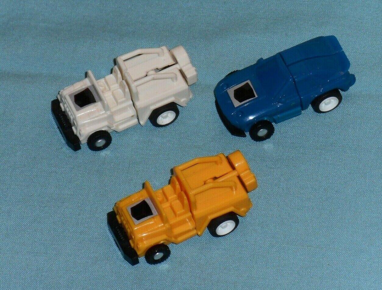 Original G1 transformadores minispy Lote x3 amarillo y blancoo Jeep + Azul Porsche