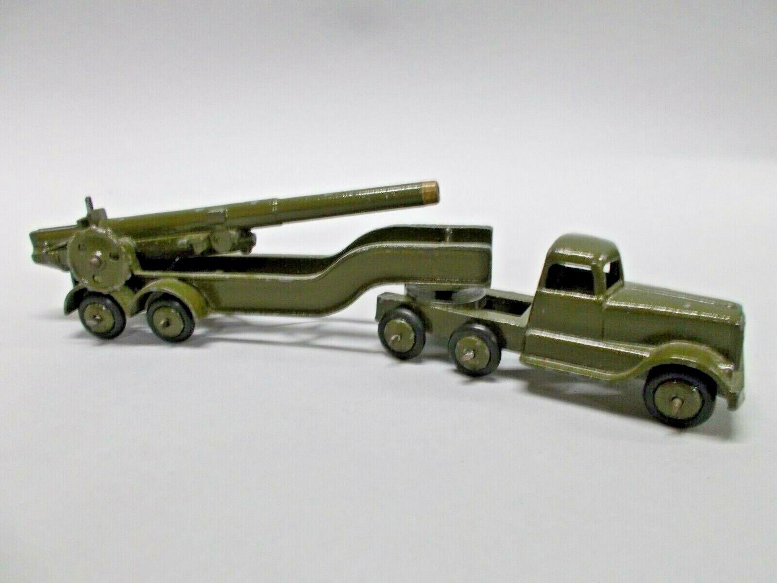CRESCENT TOYS articulated Lorry Mounted Anti Aircraft  Gun circa 1950 Excellent  choisissez votre préférée