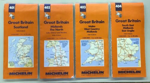 Awesome 1993 1996 Michelin Maps Great Britain Scotland Set Of 4