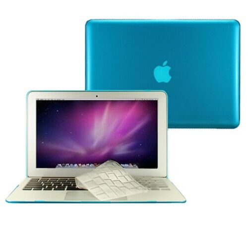 "TPU Keyboard Cover 2 in 1 Crystal AQUA BLUE Case for Macbook AIR 13/"" A1369"
