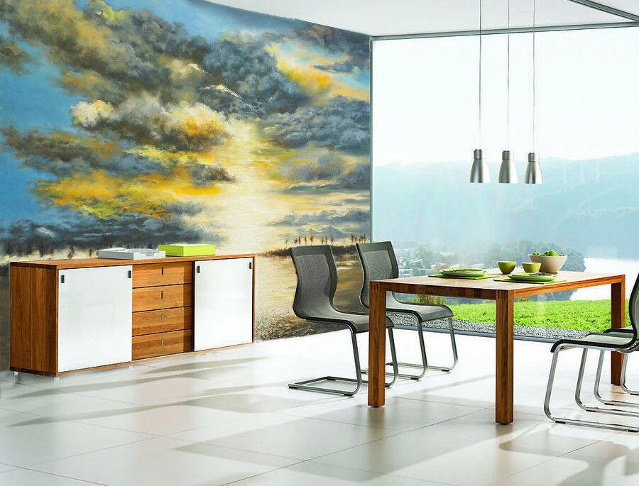 3D bluee Sky Sun 834 Wallpaper Mural Paper Wall Print Wallpaper Murals UK Lemon