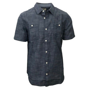 Vans-Off-The-Wall-Men-039-s-Navy-Guilder-III-S-S-Woven-Shirt-Retail-44-50