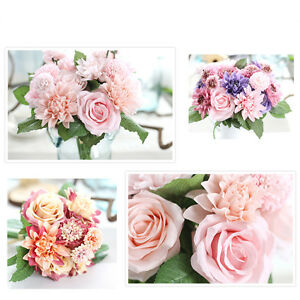 Artificial silk fake flowers rose dahlia bridal bouquet wedding image is loading artificial silk fake flowers rose dahlia bridal bouquet mightylinksfo Gallery