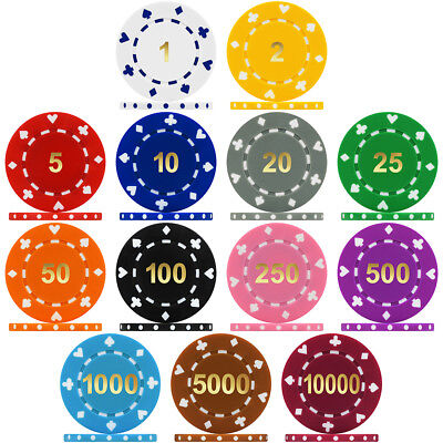 PRINT PRODUCTION REJECTS 1000 x Diamond Style 11.5g ABS Composite Poker Chips