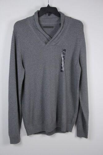 New Sean John Shawl Collar Sweater Grey Gray Heather 2XL Mens XXL