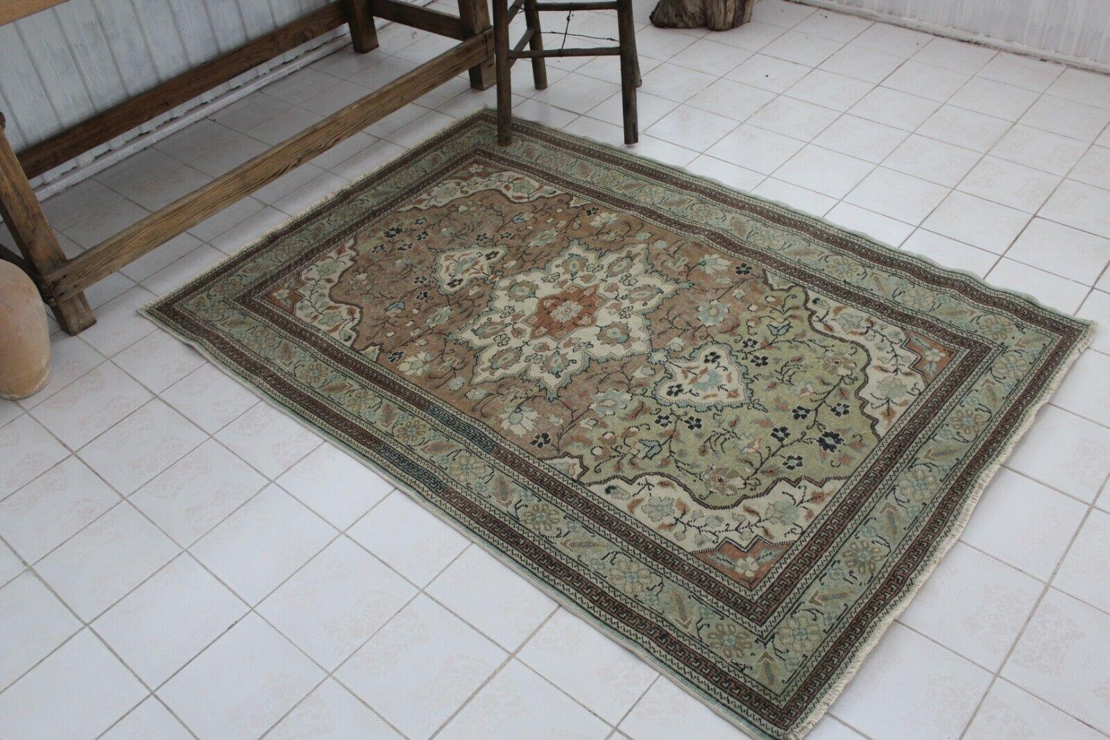 Turco Vintage hecha a mano pequeñas Anatolia Alfombra Alfombra 67 x46