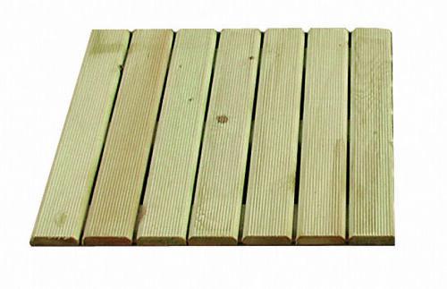 5 Stück Holzfliese Ki//Fi kesseldruckimprägniert beständig 50 x 50x 3 cm stark