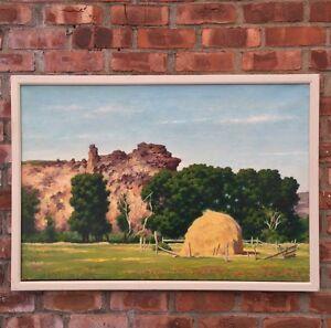 American-Scene-Regionalist-Artist-James-Chapin-Signed-O-C-Utah-Landscape