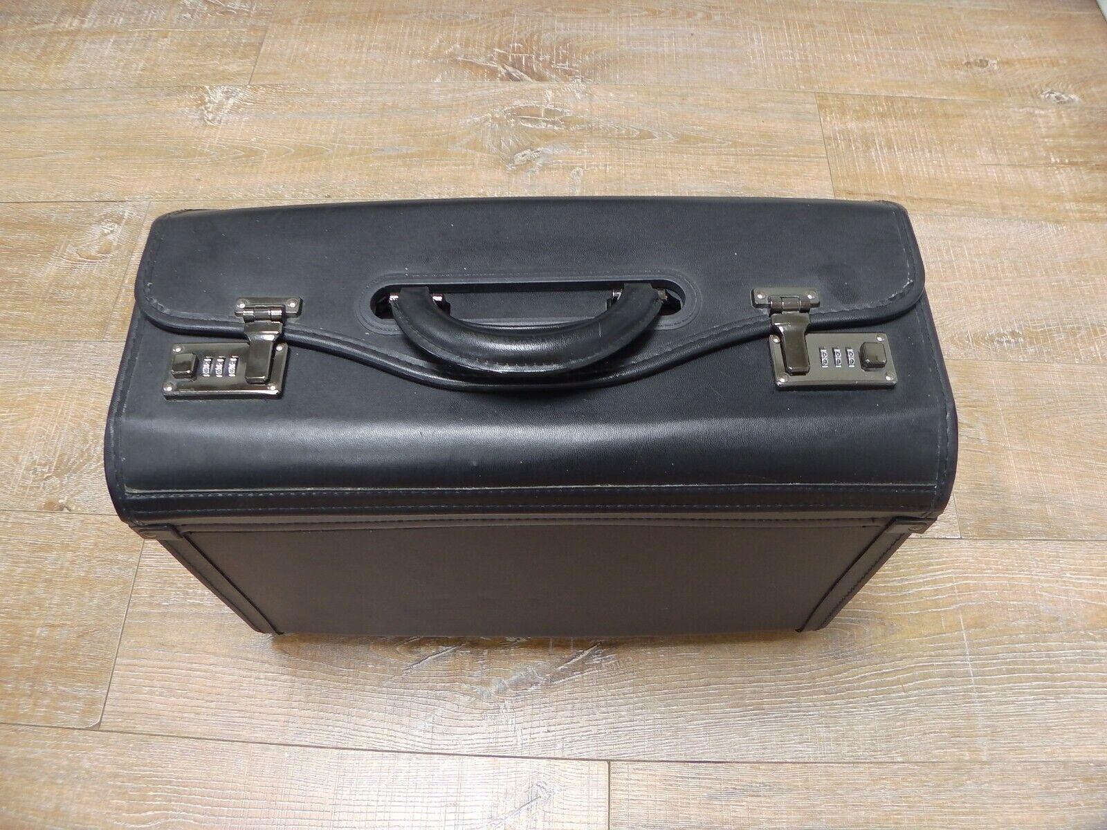 Large Leather Foto Hard Case Bag Camera Photography Travel Protective Suitcase