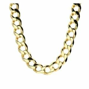 d5e8a12532767 Details about 9ct Yellow Gold Gents Curb Chain - 95.8g