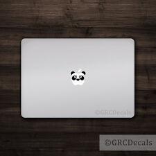 Panda Face - Mac Apple Logo Cover Laptop Vinyl Decal Sticker Macbook Animal