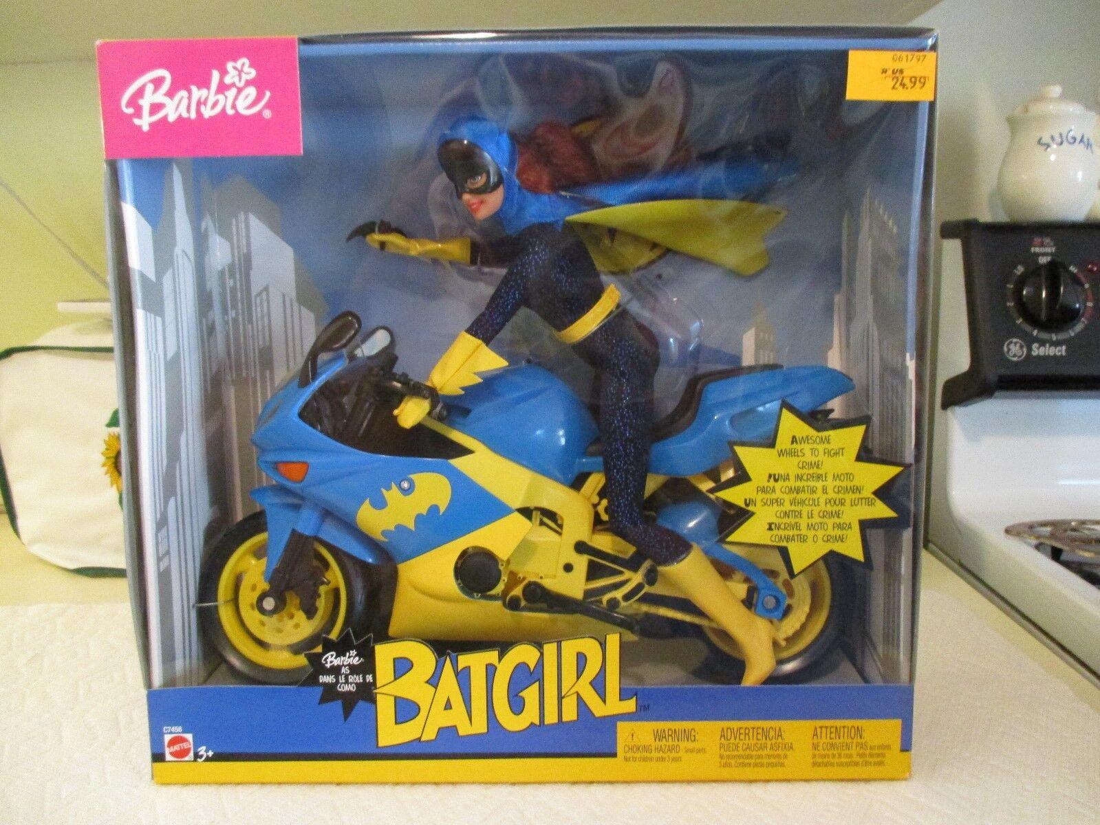 Barbie Batgirl en el motor ciclo nunca quitado de la caja nuevo  sellado de fábrica