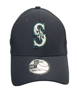 Seattle-Mariners-S-M-Small-Medium-Downflap-Flipdown-MLB-New-Era-39THIRTY-Hat-Cap