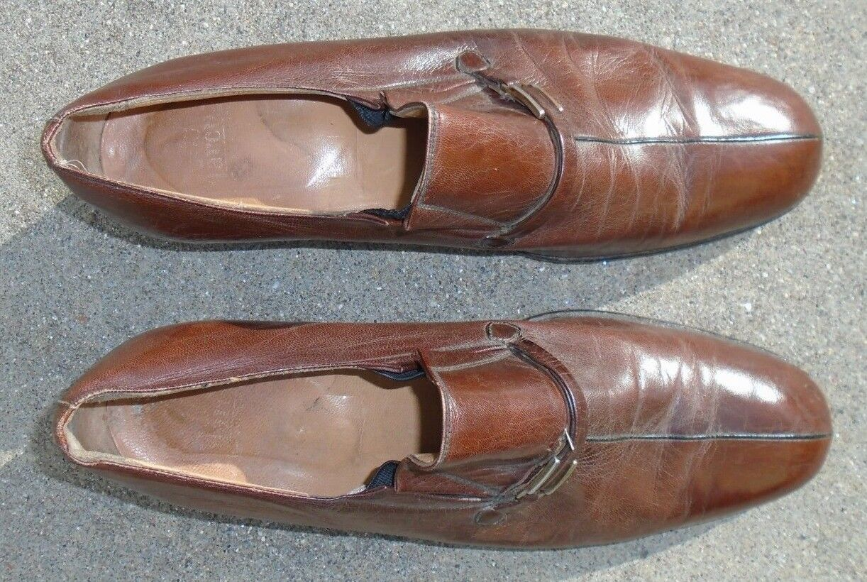 mens Larcua Italian brown leather 9 oxford dress shoes size 9 leather 9f7156