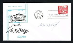 Robert E. Wood d 1969 signed autograph First Day Cover Sears VP Allstate Creator