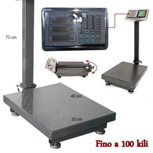 BILANCIA DIGITALE PIEGHEVOLE 300 KG A PIATTAFORMA ELETTRONICA CON DISPLAY LCD