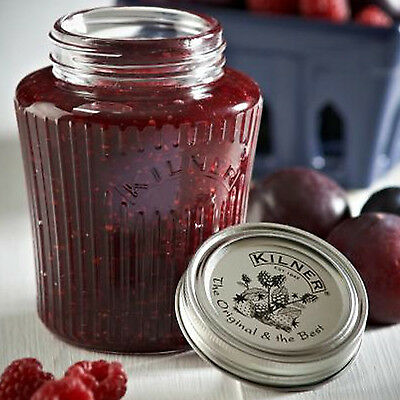 Set of 6 Kilner Vintage Jam Preserve Glass Jars