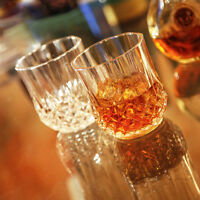 1/4/6 PCS Old Fashioned Glasses Whiskey Tumblers Shot Glass Drinking Vodka Cups