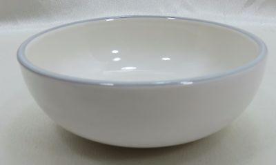 "Pfaltzgraff Fruit Dessert Berry Bowl WYNDHAM  4-7/8"" Ivory  Gray Trim"