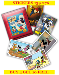 2018 Buy 4 Get 10 Free Panini Mickey Mouse Sticker Story Single Stickers 139-276