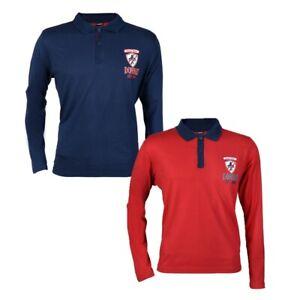 2-Stueck-Donnay-Herren-Langarm-Poloshirt-im-Rugby-Stil-Blau-und-rot