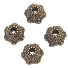 ML3160p Antiqued Copper 10mm Fancy Scalloped Dotted Metal Bead Caps 50/pkg