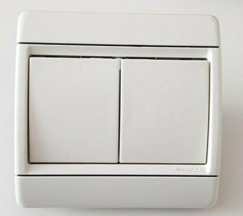 Double Interrupteur va et vient Arnould club 65002 blanc lumière
