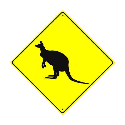 Cat Crossing Symbol Animal Xing Metal Aluminum Novelty Road Sign 12x12