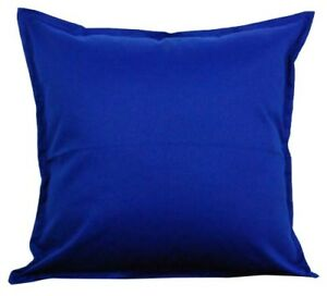 Details about Solid Blue Cotton Cushion Cover Home Decor Sofa Throw Pillow  Case 18\