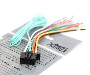xtenzi 16 pin radio wire harness for pioneer fh x720bt fh x520ui image is loading xtenzi 16 pin radio wire harness for pioneer