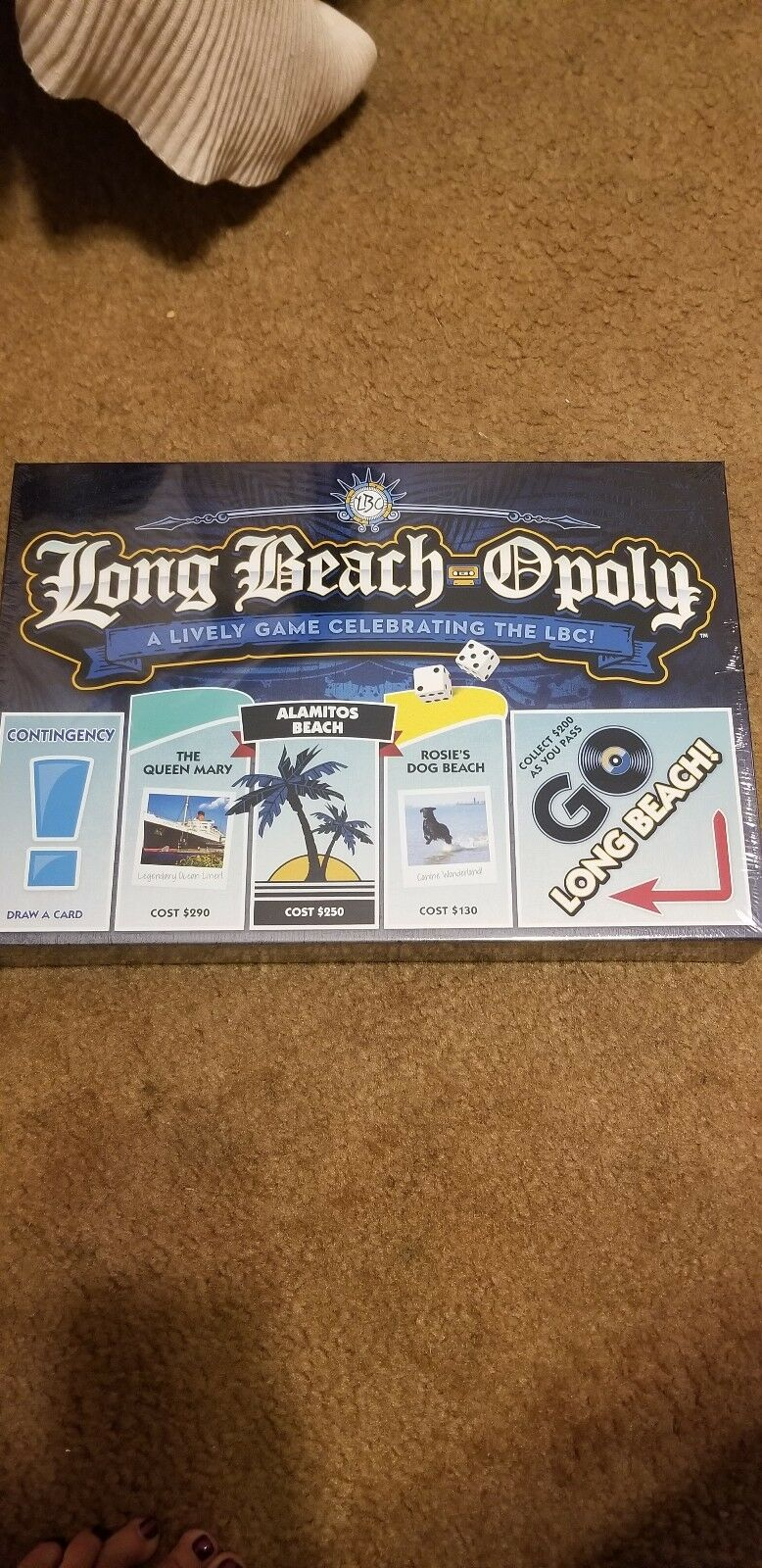 Long beach opoly exculize brettspiel