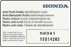 get honda radio code with serial number