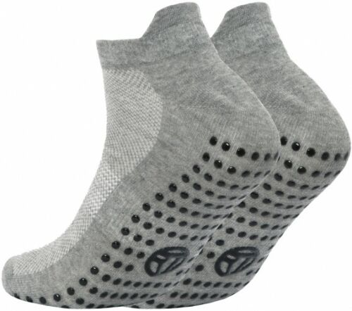 Men/'s Sports Non Slip Gripper Sole Trainer Liner Socks with Heel Protection 6-11