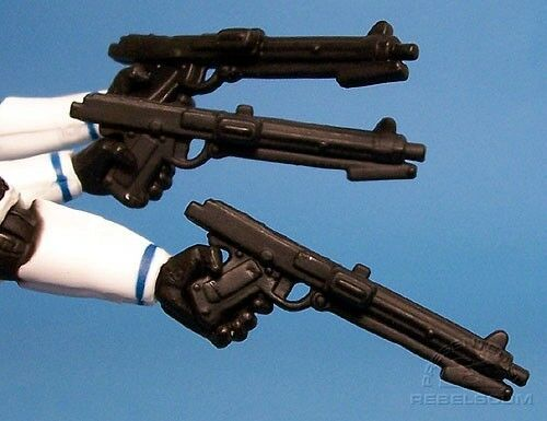 """Star Wars cinq BLASTERS pour 3.75/"""" ACTION FIGURES Stormtroopers Clone Troopers"""