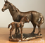 Horse-Mare-Pony-and-Foal-ornament-figurine-Leonardo-Bronzed-20cm-gift-boxed thumbnail 1