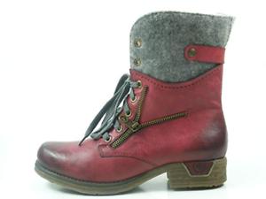 NOUVEAU! Rieker Femmes Femmes Femmes Bottine Bottes boots rouge courte taille 36 18.0721/b9 3ebfc3