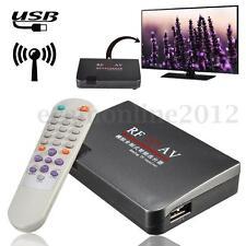 RF to AV Analog Video Audio Cable TV Receiver Converter Switch USB Modulator EU