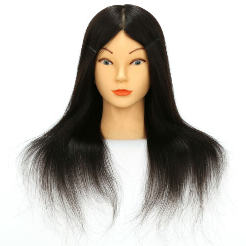 100/% Real Human Hair Hairdressing Training Head Mannequin Styling Dolls Head