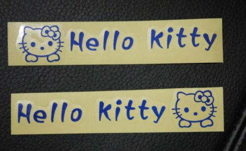 4X Hello Kitty Logo Car Truck Door Handle Sticker Decal Decor