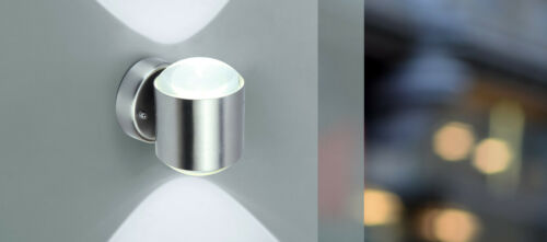 Lutec Stainless LED Exterior Wall Lamp Crystal 660lm//10W//3000K//IP44 //#844078