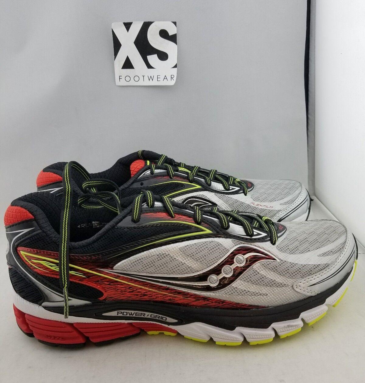 Saucony Ride 8 Running Shoe Silver, Black Red, Black Silver, Men's US 9 (I,0) 8de749