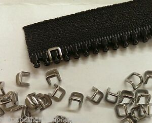 "YKK Zippers 48/"" White #10 Metal Pull with Free Top Stops"