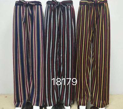 WOMEN/'S Pleated Wide Leg Palazzo Culotte Trouser Flared High Waist Harem Pants
