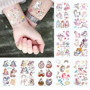 10SHEET-Cartoon-Unicorn-Temporary-Tattoos-Sticker-Wedding-Party-Bag-Fillers-Girl