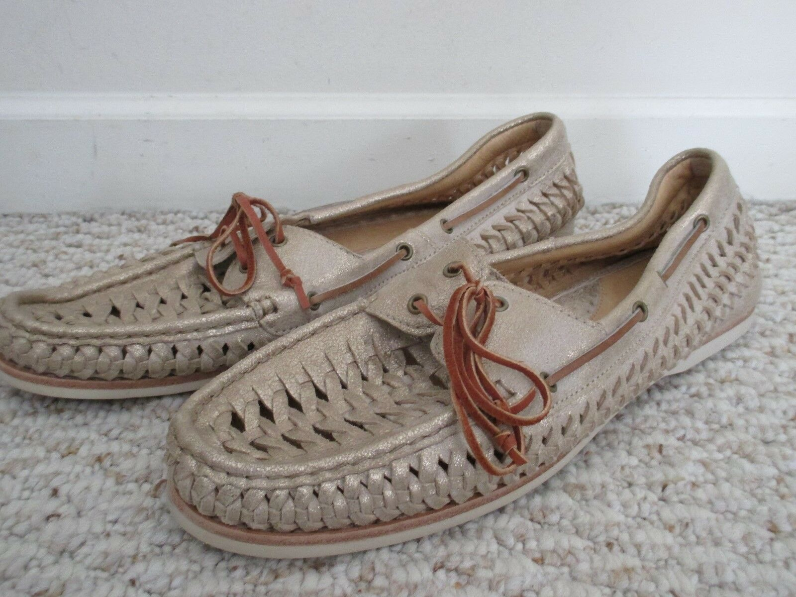 Frye Quincy Woven Boat shoes Size 11 NEW