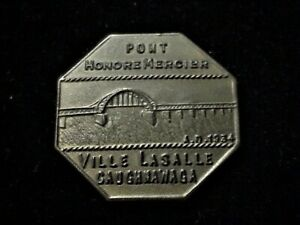 Quebec-Canada-Pont-Honore-Mercier-free-pass-indian-999A-TT-transportation-token