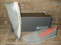 Ecco Bluma Band Leather/fabric Slip-on Shoe/ Wild Dove-concrete $100